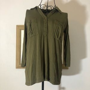 Kensie Small Green Blouse